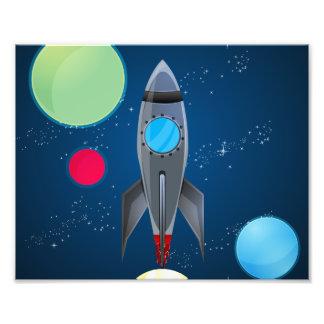 Het Schip van de Raket van de kosmische ruimte Footprint