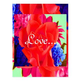 Het schitterende Rode Rood nam Valentijnskaart II  Wens Kaarten