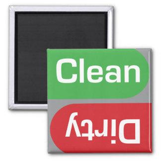 Het Schone of Vuile Teken van de afwasmachine Koelkast Magneetjes