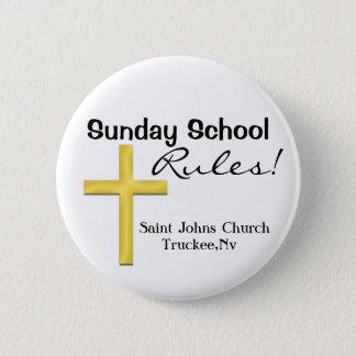 Het school-Heilige Kruis van de zondag Ronde Button 5,7 Cm