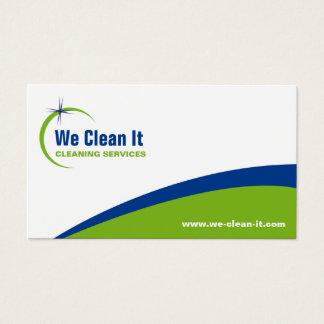 Het schoonmakende Visitekaartje van de Dienst Visitekaartjes