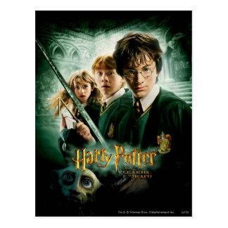 Het Schot de Groep van Harry Potter Ron Hermione Briefkaart