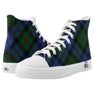 Het Schotse Geruite Schotse wollen stof van Baird High Top Schoenen