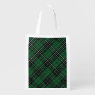 Het Schotse Geruite Schotse wollen stof van de Boodschappentas