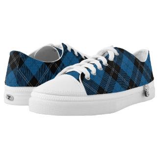 Het Schotse Geruite Schotse wollen stof van de Low Top Schoenen