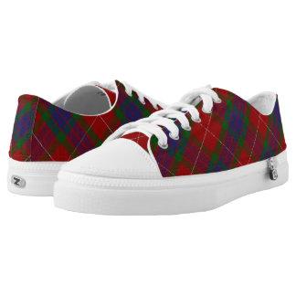 Het Schotse Geruite Schotse wollen stof van Fraser Low Top Schoenen