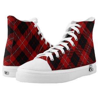 Het Schotse Geruite Schotse wollen stof van High Top Schoenen
