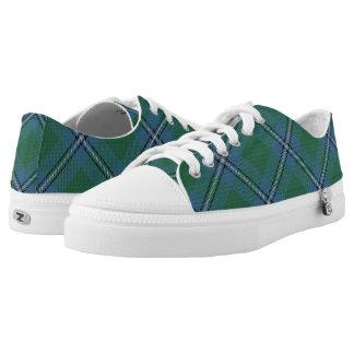 Het Schotse Geruite Schotse wollen stof van Irvine Low Top Schoenen
