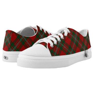 Het Schotse Geruite Schotse wollen stof van Low Top Schoenen