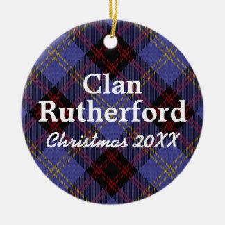 Het Schotse Geruite Schotse wollen stof van Rond Keramisch Ornament