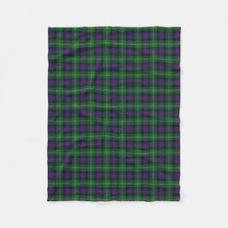 Het Schotse Klassieke Geruite Schotse wollen stof Fleece Deken