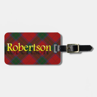 Het Schotse Label van de Bagage van Robertson van Bagagelabel