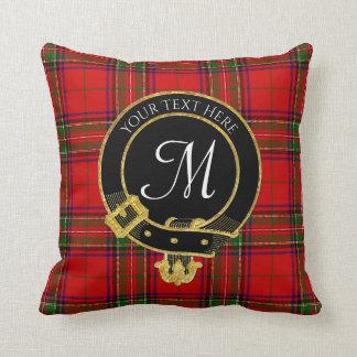 Het Schotse Monogram van het Geruite Schotse Sierkussen