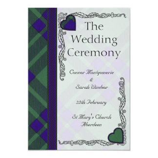 Het Schotse programma van het Huwelijk van het 12,7x17,8 Uitnodiging Kaart
