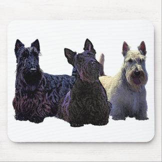 Het Schotse zwarte/wheaten trio van Terrier, Muismat