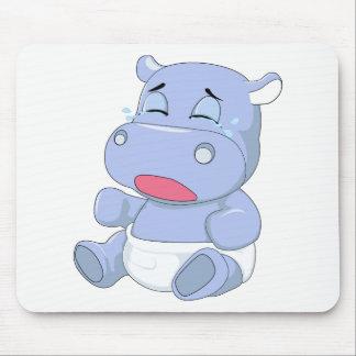Het Schreeuwen van Hippo van het baby Muismatten