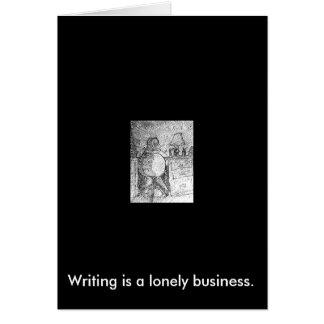 Het schrijven is eenzame zaken notitiekaart