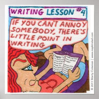 Het schrijven Les #4 Poster