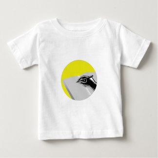 Het Schrijven van de hand de Houtdruk van de Baby T Shirts
