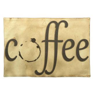 Het Schrijven van de koffie Vlek Placemat