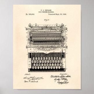 Het Schrijven van het type Machine 1896 de Kunst Poster