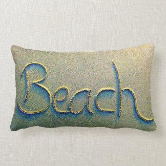 Het Schrijven van het zand Strand Lumbar Kussen