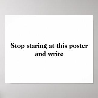 Het schrijven van Poster #2