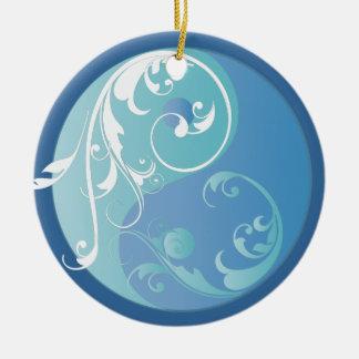 Het scrollen het Blauwe Yin & Ornament van Yang