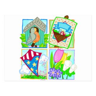 Het Seizoengebonden Ontwerp van de lente/van de Briefkaart