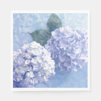Het servet-Blauw van het document Hydrangea Papieren Servet