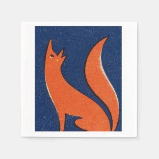 Het Servet van de vos Wegwerp Servetten