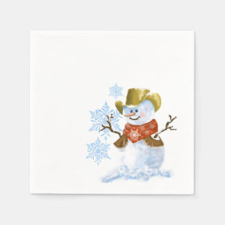 Het Servet van het Document van de Sneeuwman van Wegwerp Servetten