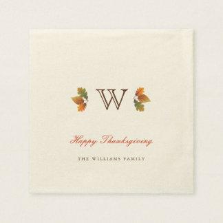 Het Servet van het Document van de Thanksgiving Papieren Servetten