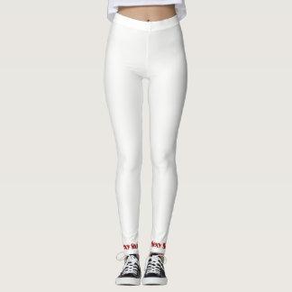 Het sexy Wit van Beenkappen Leggings