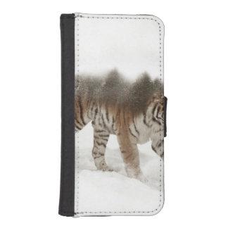 Het Siberische tijger-tijger-dubbele iPhone 5 Portemonnee Hoesje