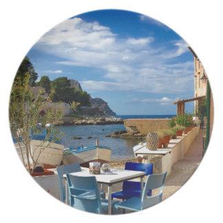 Het Siciliaanse Dorp van de Visserij Melamine+bord