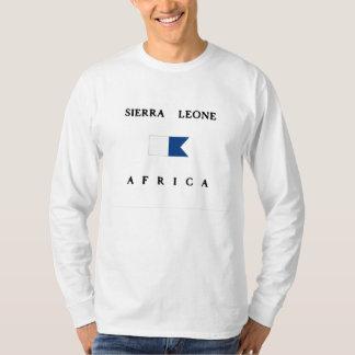 Het Sierra Leone Alpha- Afrika duikt Vlag T Shirt