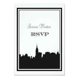 Het Silhouet #2 DIY RSVP van de Horizon NYC 8,9x12,7 Uitnodiging Kaart