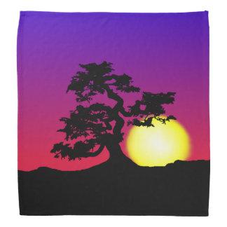 Het Silhouet Bandana van de Bonsai van de zonsonde