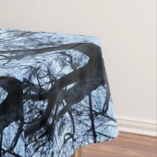 Het Silhouet PhotographTablecloth van de boom Tafelkleed