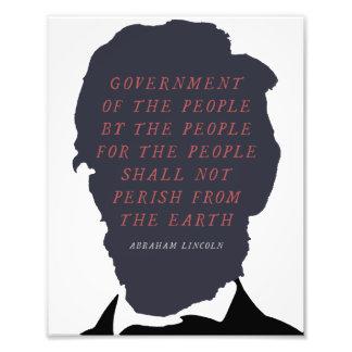 Het Silhouet van Abraham Lincoln Foto Afdrukken