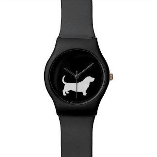 Het Silhouet van Basset Hound Horloge