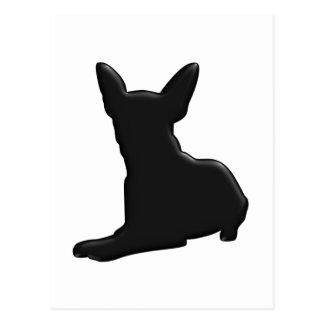 Het Silhouet van Chihuahua van de hond Briefkaart