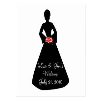 Het Silhouet van de bruid Briefkaart