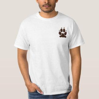 Het Silhouet van de Druk van de Poot van de wolf T Shirt