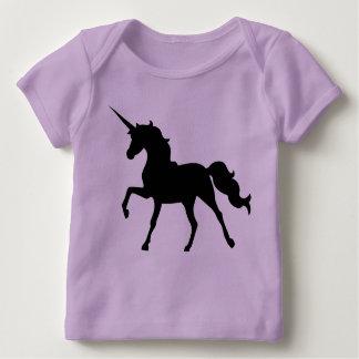 Het Silhouet van de eenhoorn Baby Shirt