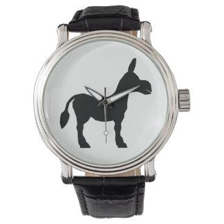 Het Silhouet van de ezel Polshorloges