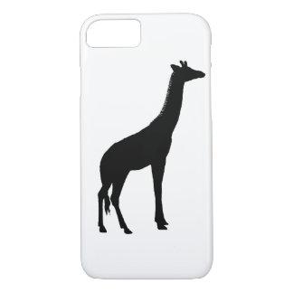 Het Silhouet van de giraf iPhone 7 Hoesje
