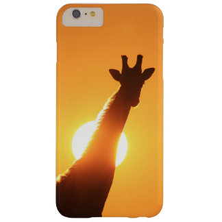 Het Silhouet van de giraf van Goud Barely There iPhone 6 Plus Hoesje