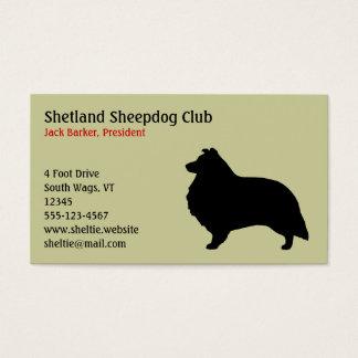 Het Silhouet van de Herdershond van Shetland Visitekaartjes